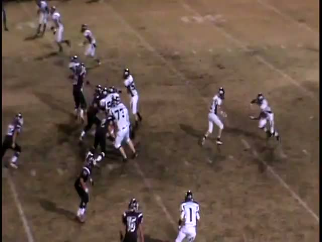 Dustin Stoufflet playing football against Charleston during the 2013-2014  Season for Gentry High School in Gentry, AR